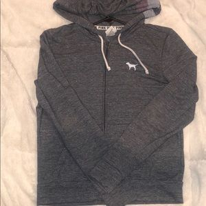 VS PINK grey zip up size XS